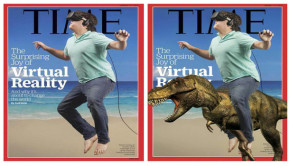 Palmer Luckey, the Long Beach kid who developed Oculus VR, is featured on the cover of 'Time' magazine's Aug. 17 edition. The image of Luckey suspended over a beach had the Internet afire with memes that replicated the tech whiz kid in a variety of funny images.